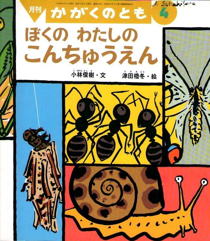 ぼくの わたしの こんちゅうえん かがくのとも 通巻301号 (1994年4月号) ※折り込みふろくあり