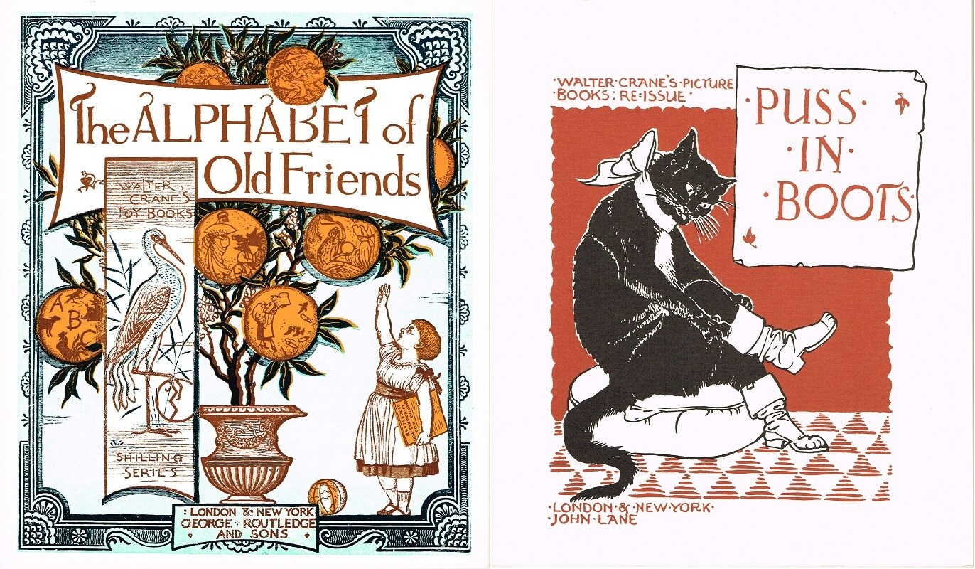 The ALPHABET of Old Friends/ Puss in Boots 古いお友だちのアルファベット/長ぐつをはいた猫 (復刻 世界の絵本館 オズボーン・コレクション)
